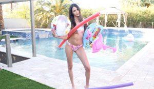 Natalia Nix in her swim suit