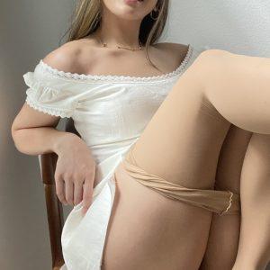 Camsrating Jasmine Grey in pantyhose