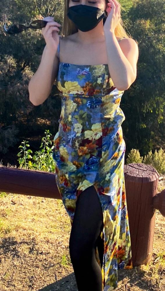 Camsrating Jasmine Grey floral dress