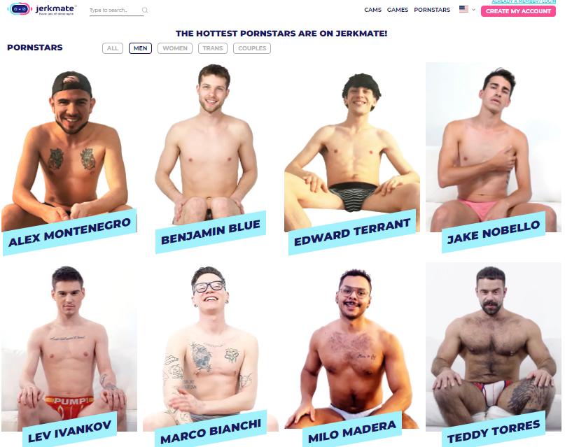 Jerkmate Gay Pornstars